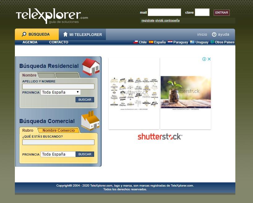 búsqueda de telefono en internet en telexplorer