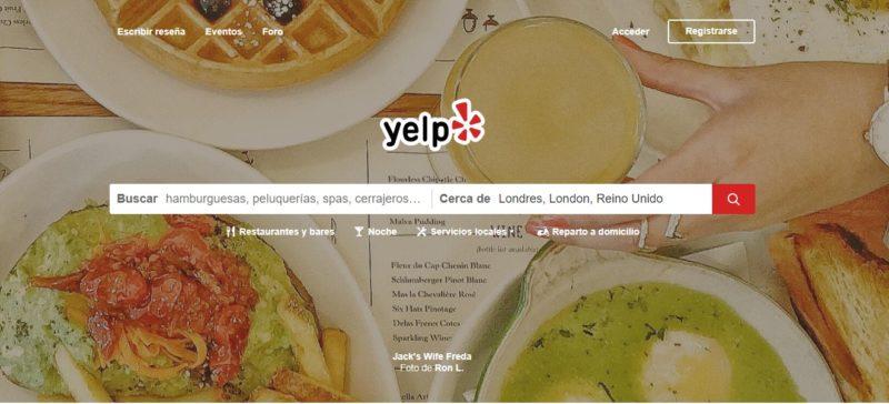 búsqueda de datos de personas en Yelp