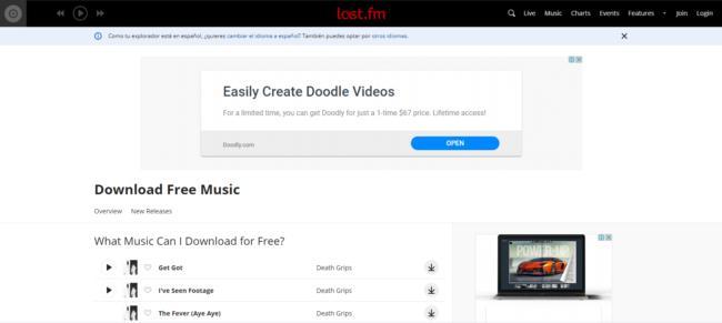 last fm, descargar musica gratis y legal