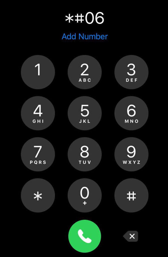 ver IMEI iPhone con codillo *#06#