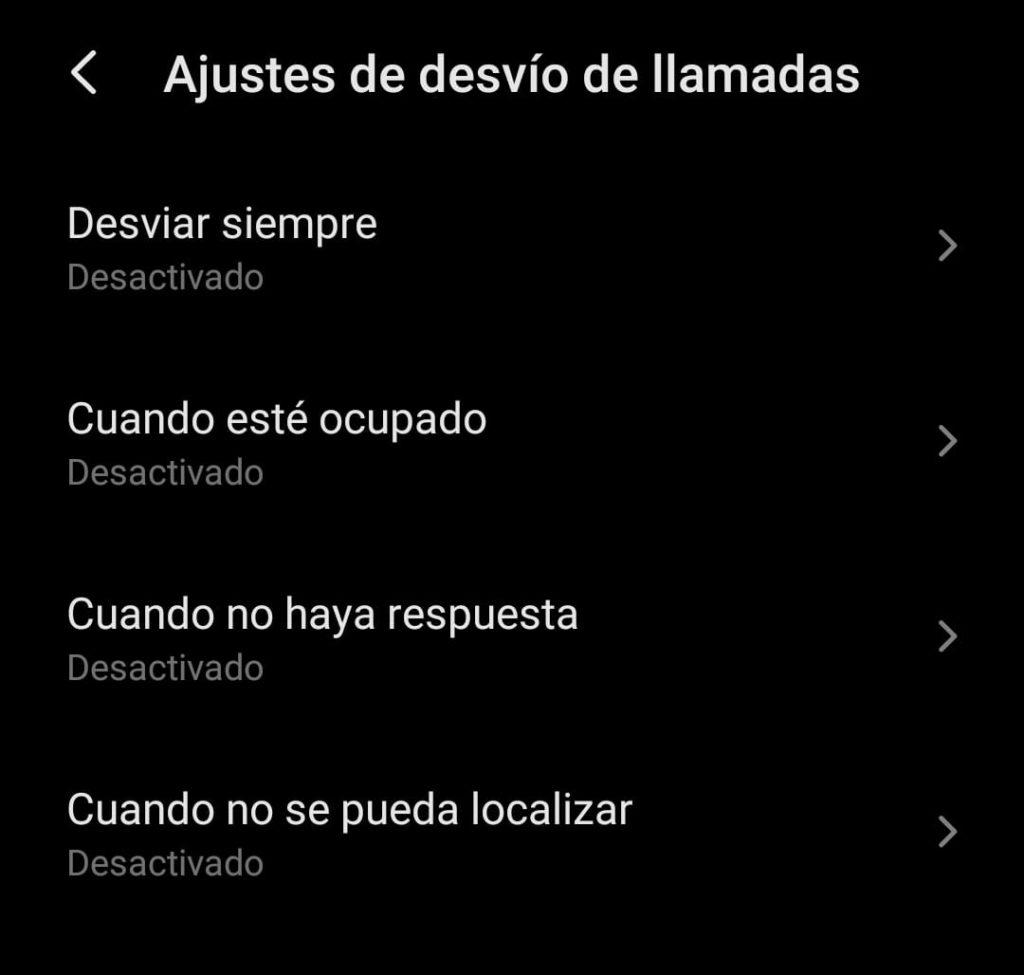 Desvio de llamadas en Android