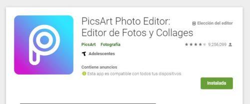 Pics Art editor de fotos