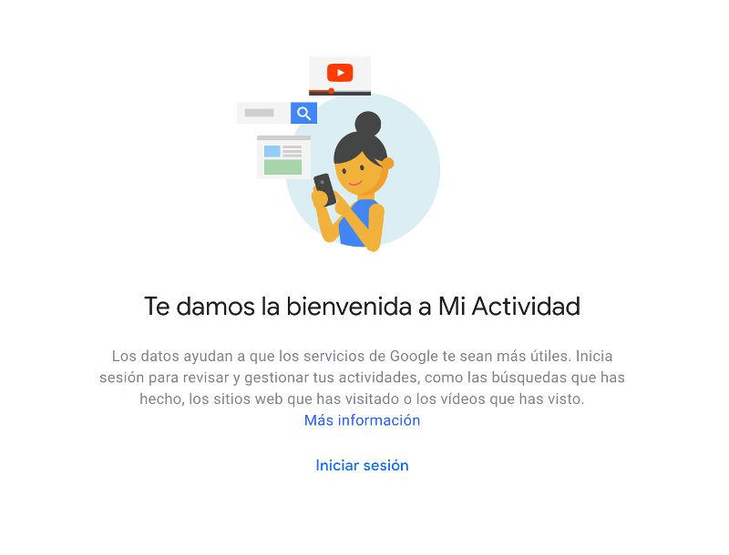 configuracion de mi actividad en Google