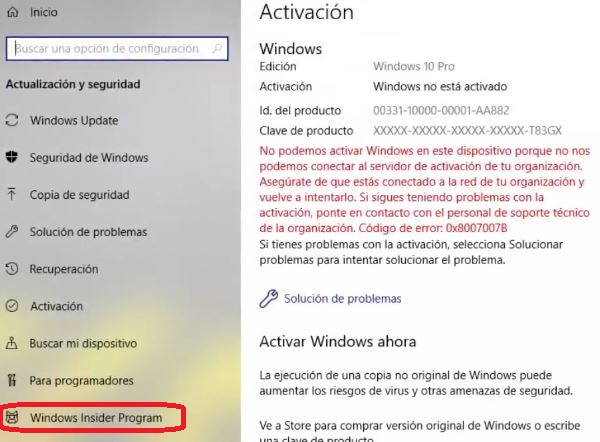 Acrivar windows 10 con licencia (paso 2)