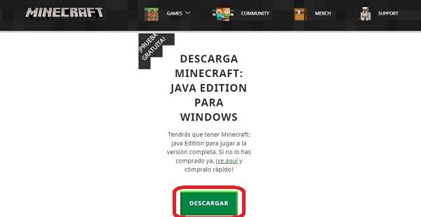 Descargar gratis Minecraft Java Edition