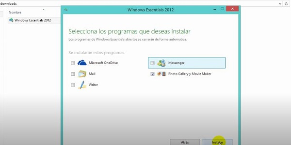 Movie Maker en Windows 10 (Paso 3)