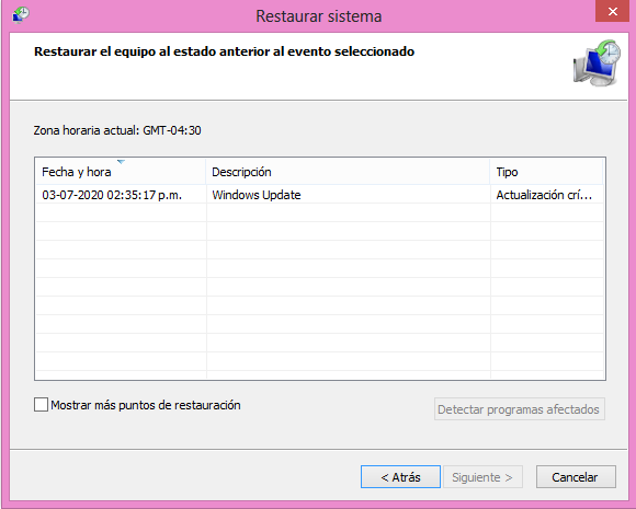Restauración del sistema operativo
