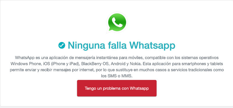 whatsapp esta caido