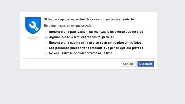 Denunciar Hackeo de mi cuenta Facebook