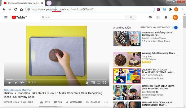Descargar vídeos de YouTube con PP