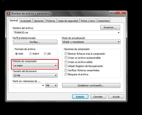Como comprimir un archivo (Paso 2)