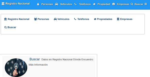 Registro nacional- buscador de personas