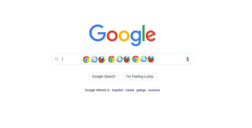 google como pagina por defecto en chrome, safari, firefox y microsoft edge