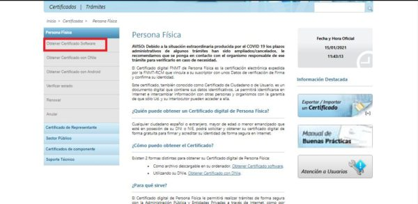 Cómo descargar el certificado FNMT desde cualquier navegador