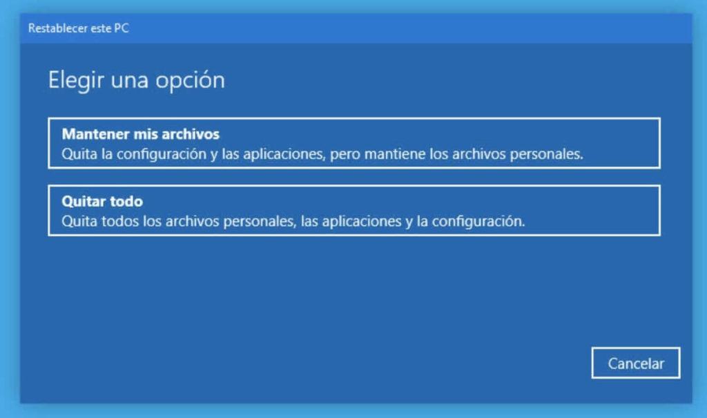 ¿Cómo restablecer Windows 10 a su estado original sin formatear?